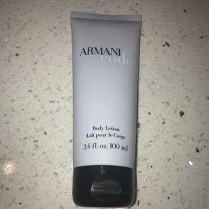 Armani Code travel size lotion 3.4 oz